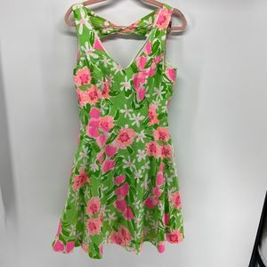 Lilly Pulitzer Freja green and pink floral Dress